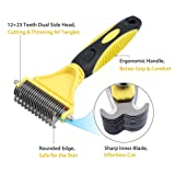 Tanice Pet Grooming Tool with 2 Sided 12+23