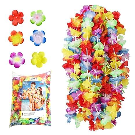 NNDOLL collane ghirlande hawaiane Fiori Colore Misto (Misto 32d85a15c702