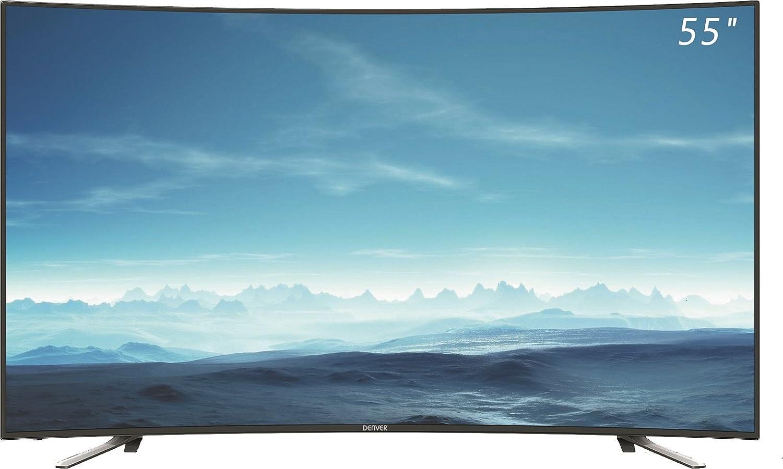 TV DENVER LED-5570T2CS - 55/139CM UHD 4K CURVO: BLOCK: Amazon.es ...