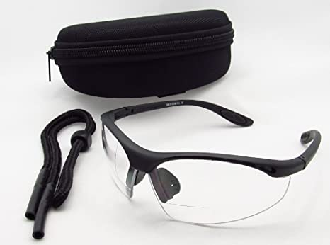 eacc1bddd705 Amazon.com: Motorcycle Wraparound Clear Bifocal Glasses +3.00 with ...