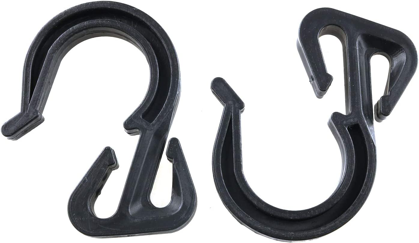 Cargo Net Truck Net Garage and General Outdoor Equipment JCBIZ 12pcs 54x40mm Elastic Rope Hook Black Color Bungee Cord Hooks Reducing Drag and Vibration For Bungee Net