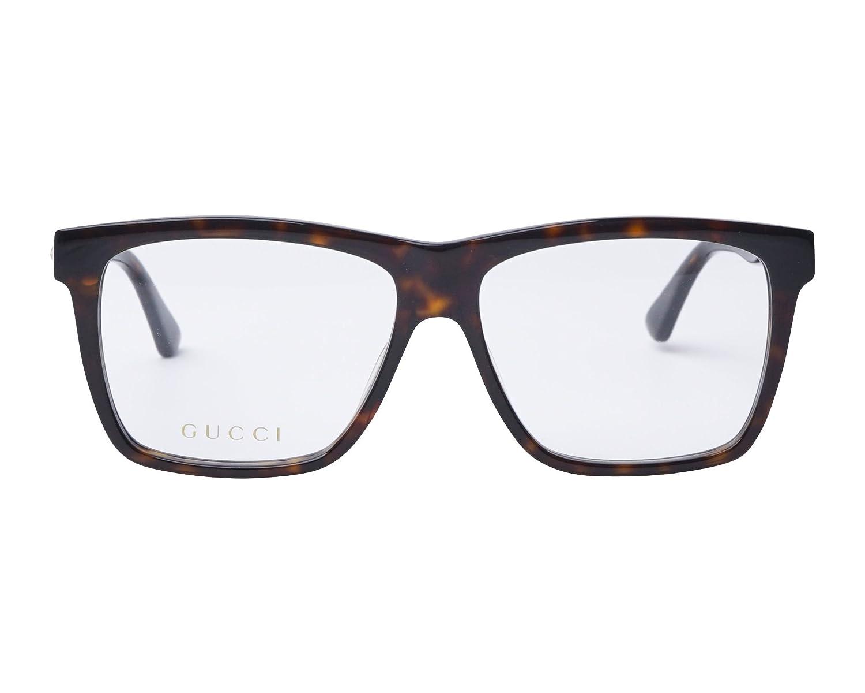 Gucci GG 0268O 002 55, gafa vista hombre, montura acetato marrón ...