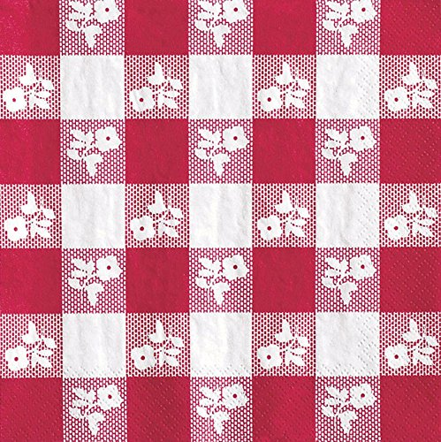 Creative Converting Red Gingham Luncheon Paper Napkins, 50 Count (Pack of 2) ()