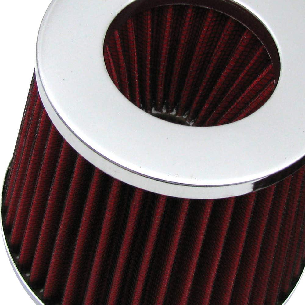 "3.5/"" Short Ram Cold Air Intake Filter Round//Cone Universal BLACK For Hyundai"