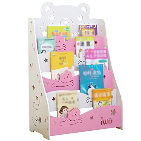 Five Layers Child Bookshelf PVC Simple Combination Storage Rack Inspiration Book Display Stand Uk