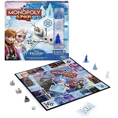 Kids Board Game Disney Frozen Edition Monopoly Junior Girls Boys Adventure Toy by Disney