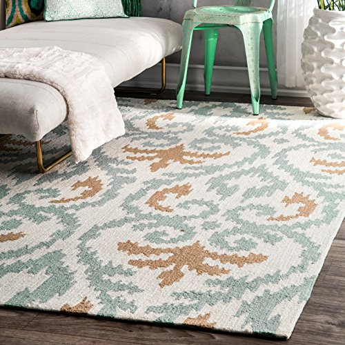 nuLOOM 100-Percent Polyester Hand Tufted Anisa Area Rug, 9-Feet by 12-Feet, (Hand Tufted Beige Polyester)