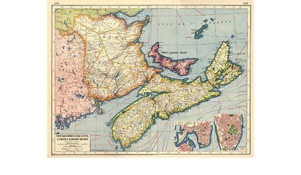Map Of Canada Halifax.Amazon Com Canada Maritime Provinces New Brunswick Nova Scotia Pe