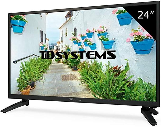 TD Systems K24DLH8H - Televisor Led 24 Pulgadas HD, resolución 1366 x 768, HDMI, VGA, USB Reproductor y Grabador.: Amazon.es: Electrónica