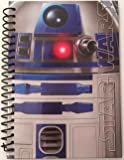 """Star Wars R2D2 Droid Personal Journal Hardcover 5"""" x 7"""" Diary Spiral Notebook"""