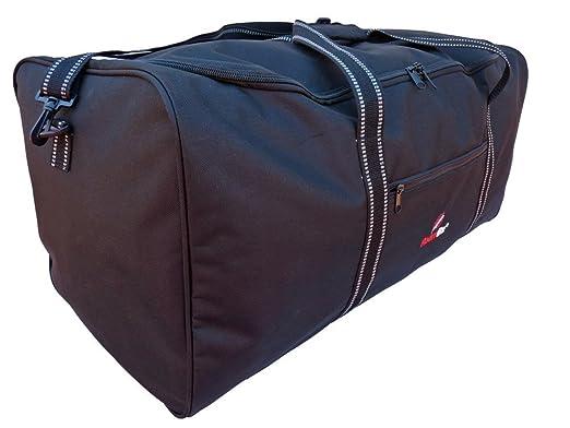 Roamlite Bolsa de Viaje Extra Grande - Bolso de Deporte y Gimnasio Tamaño Equipaje - Bolsas de Viaje de Carga Negro Liso - 76 cm x 34 cm x 37 cm y ...