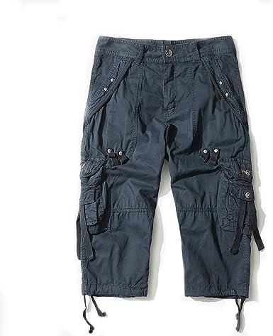 AYG Bermudas Cargo Pantalones Cortos Militares Hombre 3/4 ...