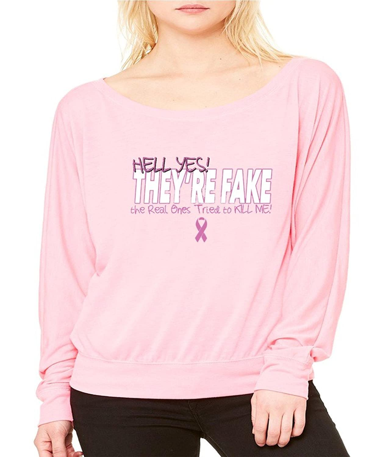 They are Fake Real Tried to Kill Me T-shirt Breast Cancer Awareness Shirts