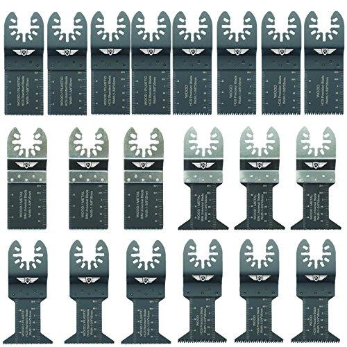 20 x TopsTools FAK20 Fast Fit OMT Mix Blades for Dewalt Bosch Fein Makita Milwaukee Craftsman Chicago Ridgid Ryobi Rockwell (HyperLock) Porter Cable Multi Tool Accessories