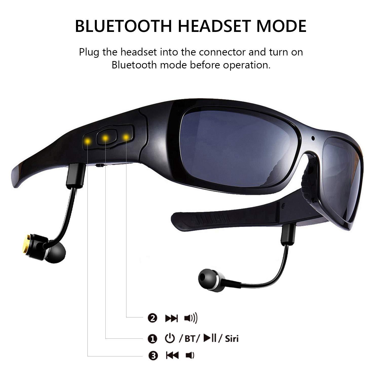 88b5999ba2 DCCN Bluetooth Sunglasses with Camera 16GB SD Card HD  Amazon.co.uk   Electronics