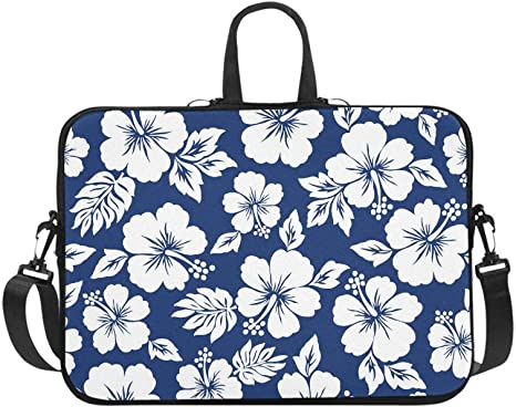 Hibiscus Butterflies Laptop Sleeve Bag Notebook Computer PC Neoprene Protection Zipper Case Cover 17 Inch