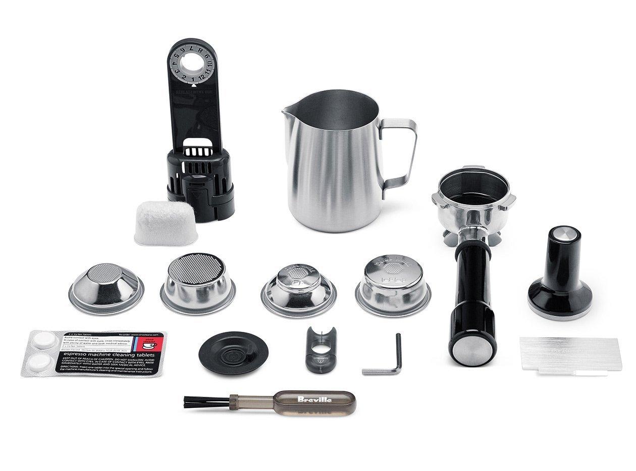Beigefügtes Zubehör für die Espressomaschine Sage Appliances mit Mahlwerk