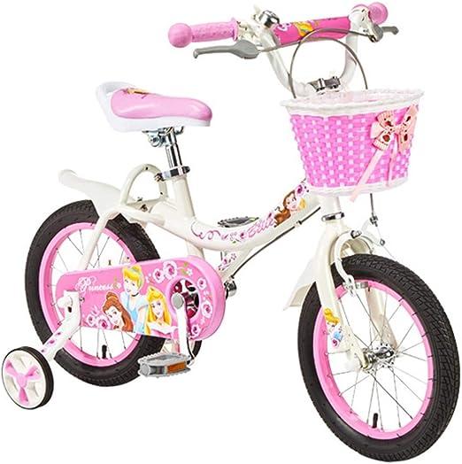 Bicicletas niños 2-6 años de Edad niña 12-14 16 Pulgadas Scooter para niña Deportes al Aire Libre Portátil (Color : Pink-A, Size : 14in): Amazon.es: Hogar