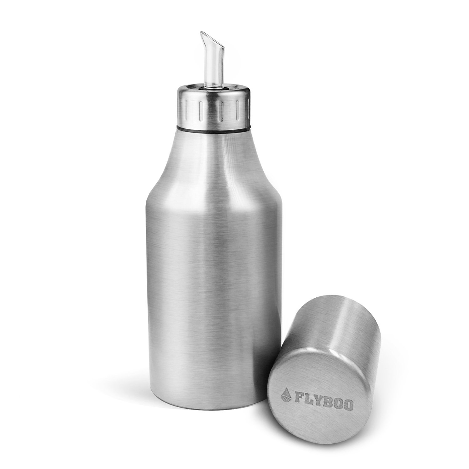 FLYBOO Olive Oil Dispenser Oil Bottle Unbreakable Stainless Steel by 35oz (1000ML) by Flyboo