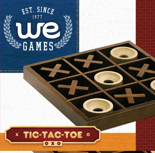 WE Games Tic-tac-toe Wooden Board Game