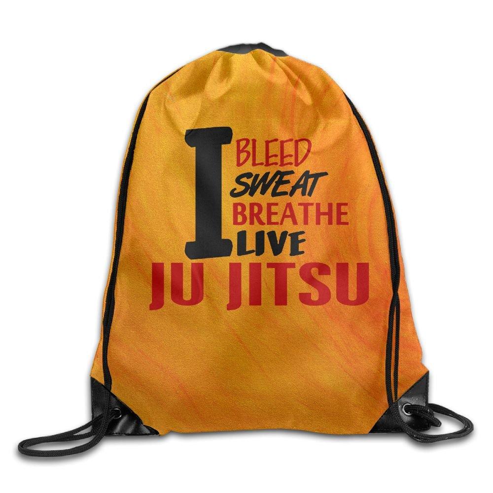 I Bleed Sweat Breathe Live JU JITSU Drawstring Storage Bag Sackpack Backpack For Men & Women School Travel Backpack Cshoes
