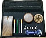 Sigato™ : Smell Proof Bag Pouch Case Kit1 (Color : Black) (Size:10'' X 7'') + Free Accessories : SB-B-B+Kit1