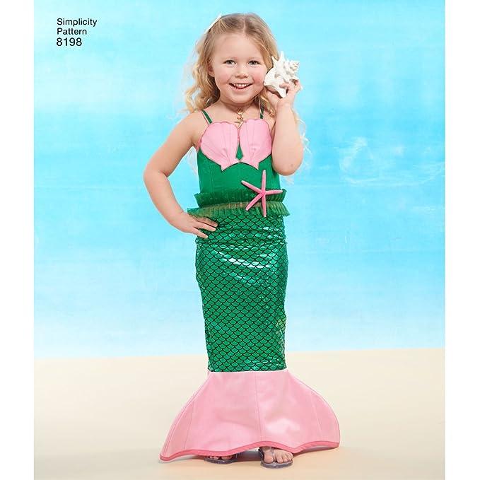 Simplicity Schnittmuster 8198 Kindes, Mädchen und \'Meerjungfrau ...