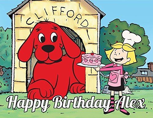 Clifford the Big Red Dog Edible Image Photo Cake Topper Sheet Personalized Custom Customized Birthday Party - 1/4 Sheet - 74150