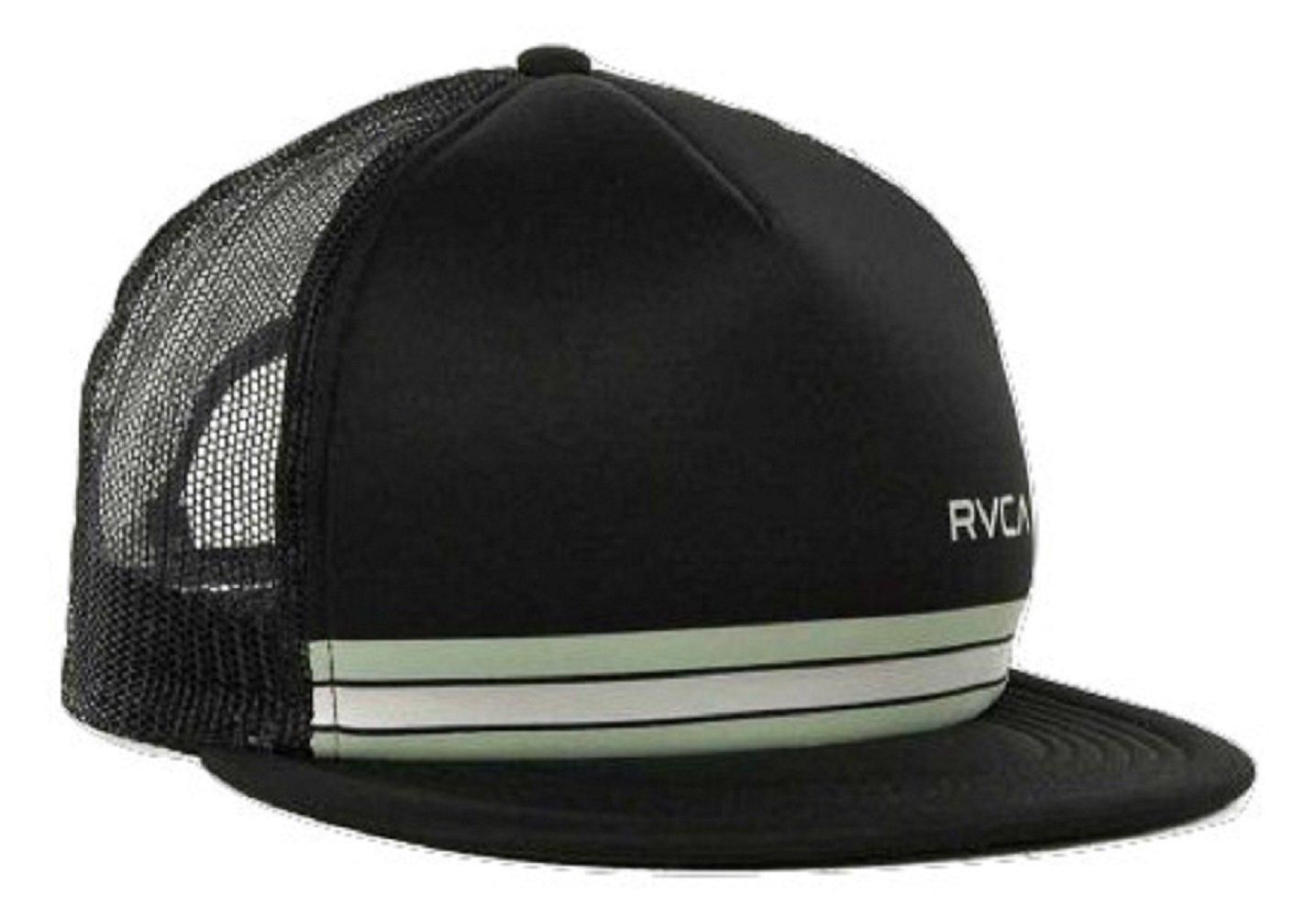 Soporte de Barlow Rvca ala Trucker de malla sombrero gorra Negro ...