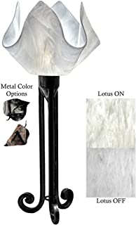 product image for Jezebel Signature Torch Light. Hardware: Black. Glass: Lotus, Flame Style