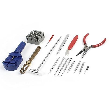 16-en 1 reparación pinzas martillo herramientas destornillador reloj ...