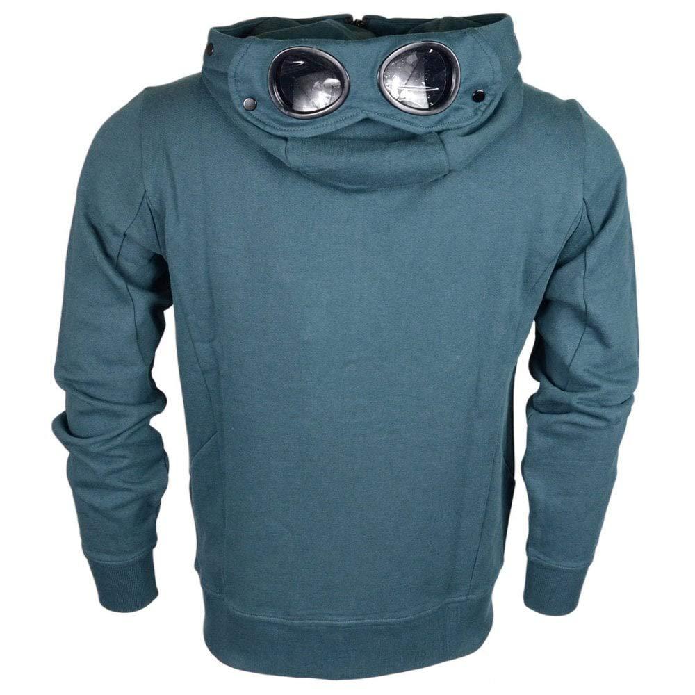 C.P Company Lens Zip Up Cotton Green Hoodie