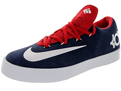 f7cd0d32214 Image Unavailable. Image not available for. Color  Nike Kids Kd Vulc (GS)  Obsian White University Red ...