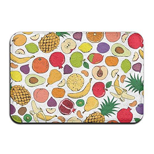 Colored Doodle Fruits Doormat 40x60 Cm Indoor/Outdoor