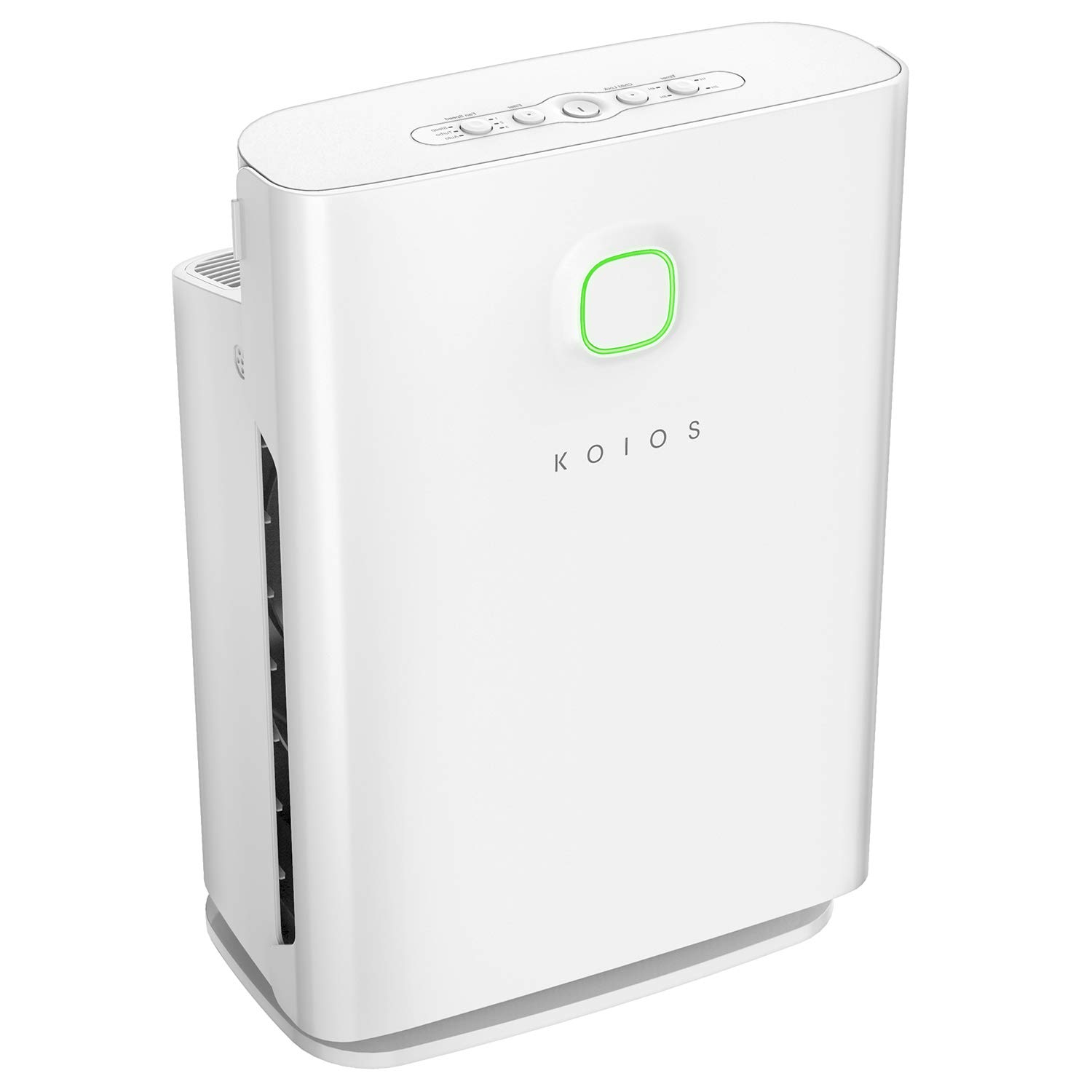 Koios Air Purifier with True HEPA Filter, Allergies Eliminator Air Cleaner for Large Rooms, Home, Dust & Pollen, Smoke and Pet Dander, 100% Ozone Free (Air Purifier White)
