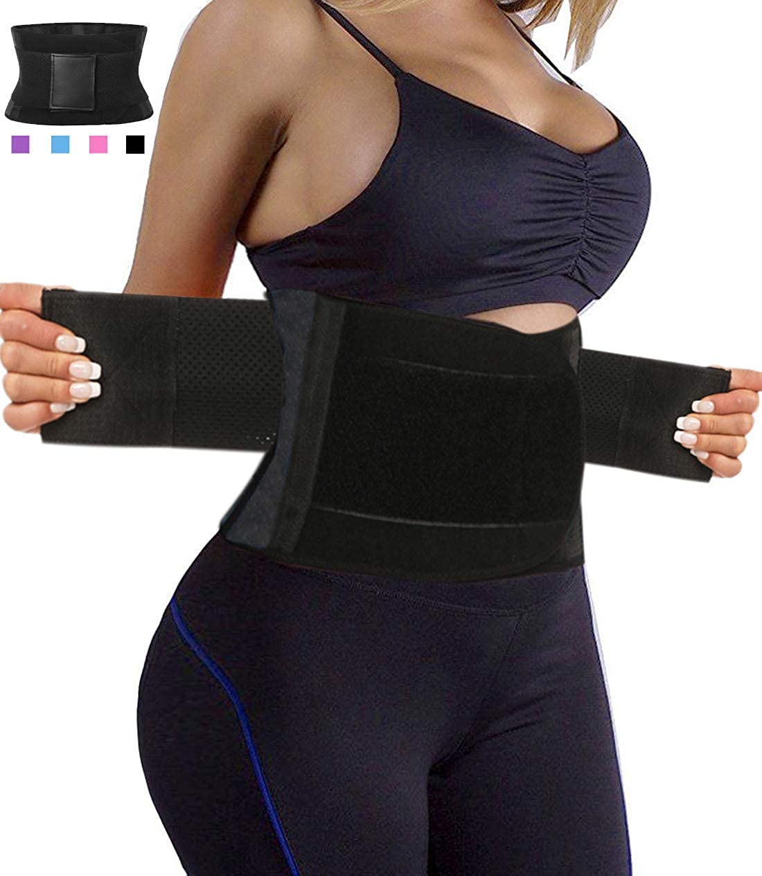 29a7931815 HEXIN Waist Cincher Girdle Body Shaper Tummy Trainer Belly Training Belt for  Weight Loss Workout Fitness at Amazon Women s Clothing store