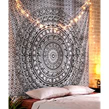 Black And White Elephant Tapestry Queen Mandala Hippie Large Bedsheet Bohemian Throw Tapestries