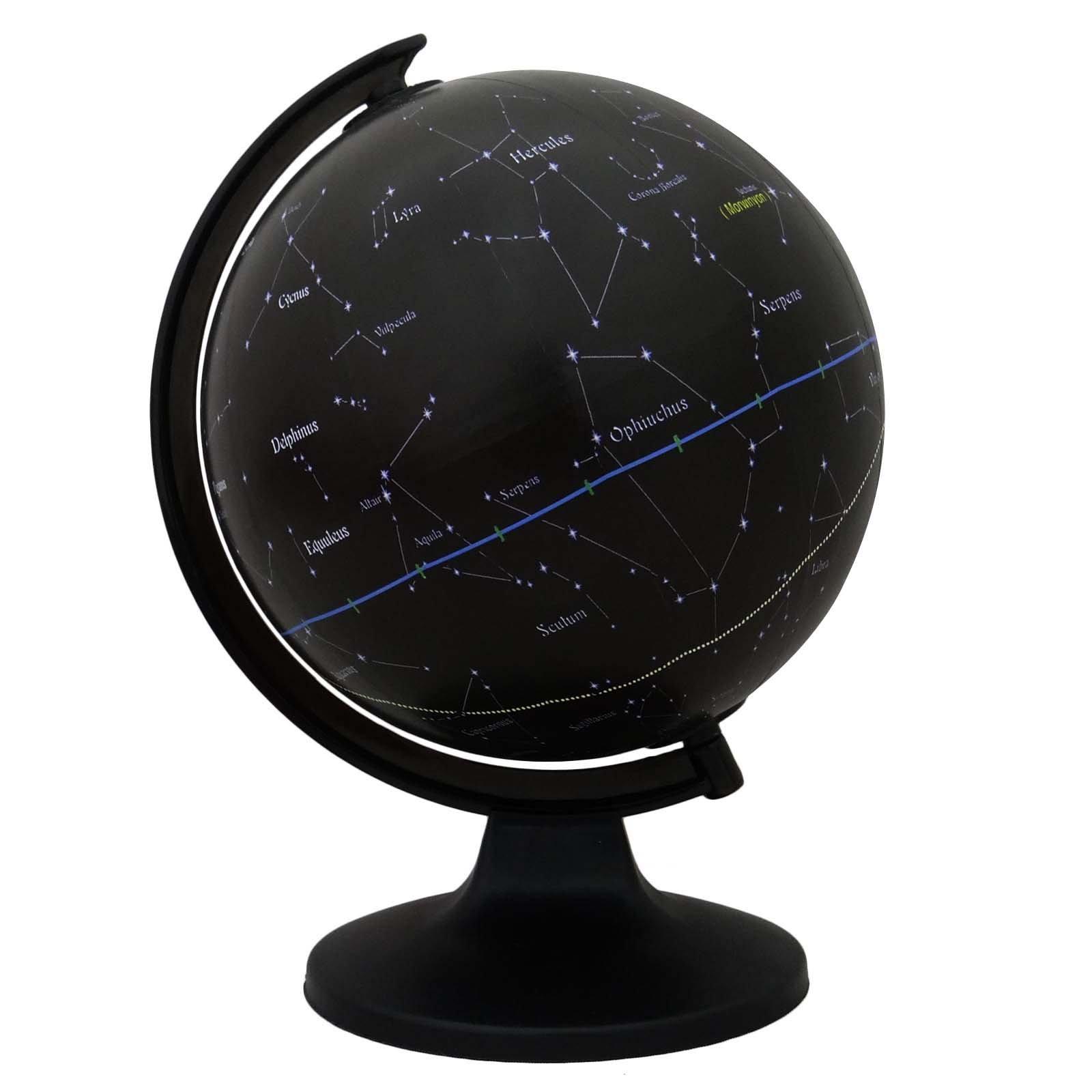 Uniworld Décorative Desktop Rotating Globe Constellation Stars Globes Table Décor 11.3''