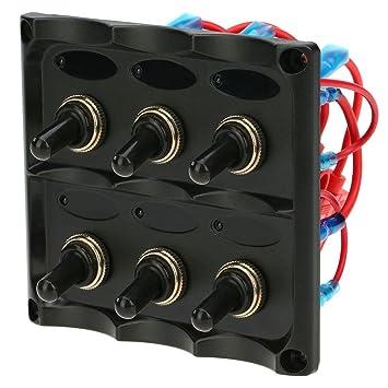 kkmoon 12v 24v waterproof 6 gang toggle switch panel with fuse ledkkmoon 12v 24v waterproof 6 gang toggle switch panel with fuse led indicators diy