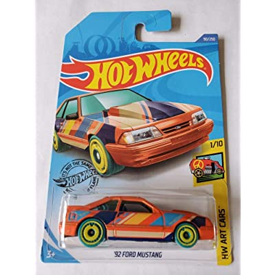 Hot Wheels 2020 Hw Art Cars '92 Ford Mustang, Orange 90/250: Toys & Games