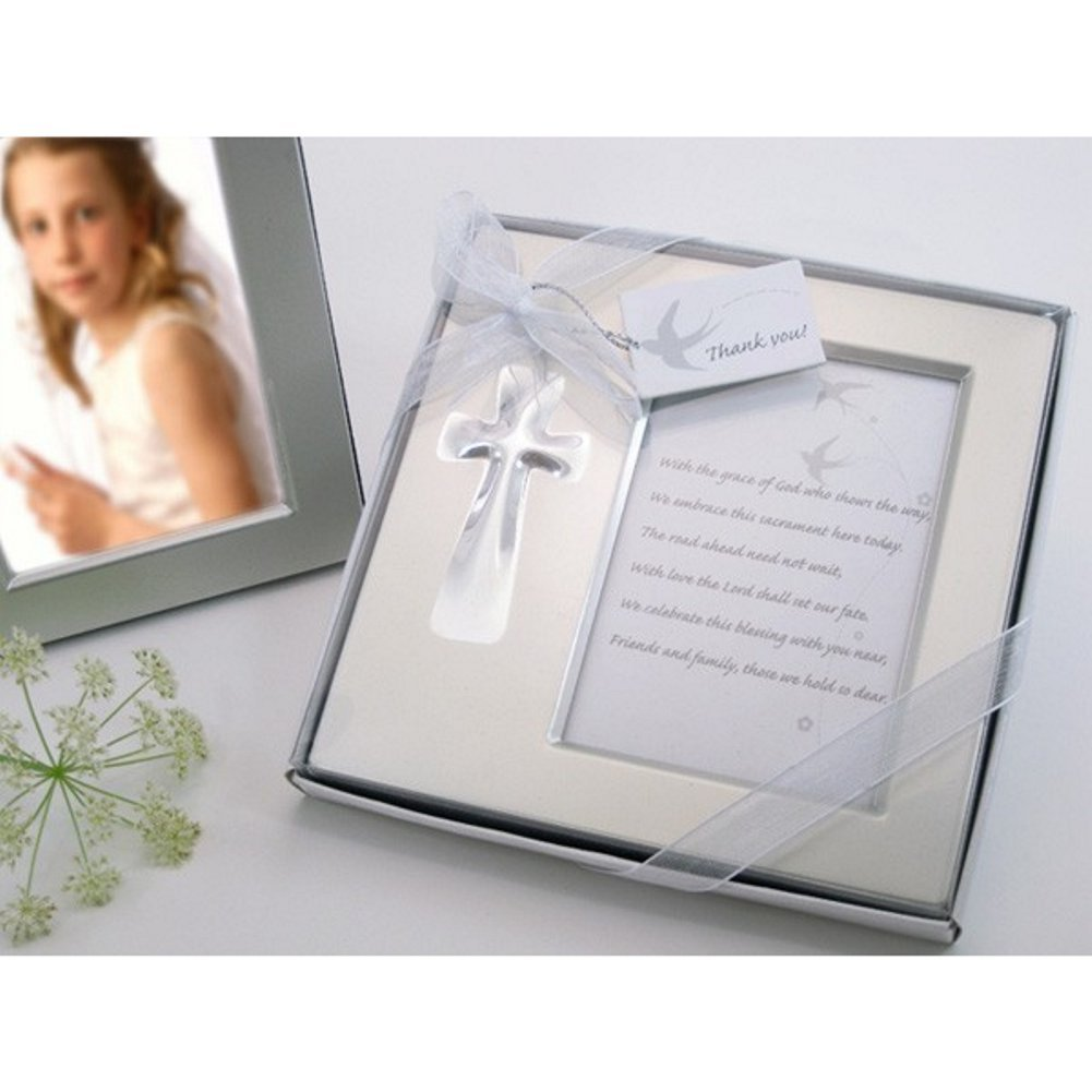 Bless this Day Cross Photo Frame Favor in Gift Box (Pack of 50) by A&D
