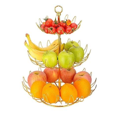 ZZ Basket Canasta de Frutas, Plato de frutero de Acero ...