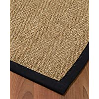 NaturalAreaRugs Opulence Seagrass Rug, (2.5-Feet by 8-Feet) Black Border