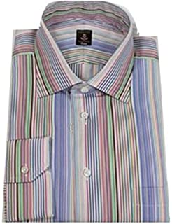 Rust /& Grey Multi-Stripe Sport Shirt Robert Talbott Purple with Blue