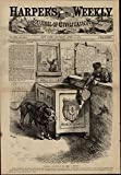 """Eternal Vigilance is the Price of Liberty""Political Cartoon- Public Watchdog- Public Schools- Education- Separation of Church and State- Religion in SchoolIssued 1875 NY by Harper's WeeklyArt by Thomas NastA visually appealing original antique wood-..."