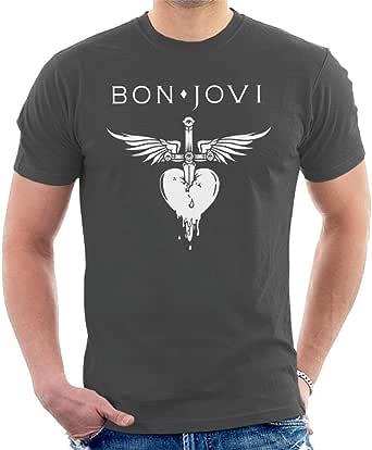 Bon Jovi T Shirt Heart /& Dagger Band Logo Nouveau Officiel Femme Skinny Fit