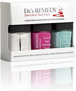 product image for Dr.'s Remedy All Natural Anti Fungal Vegan Nail Polish SENSATIONAL SUNSHINE Organic Non Toxic Toenail Fungus Treatment 3 Piece Quick Dry Long Lasting - TOTAL Two-In-One Glaze HOPEFUL Hot Pink TRUSTING