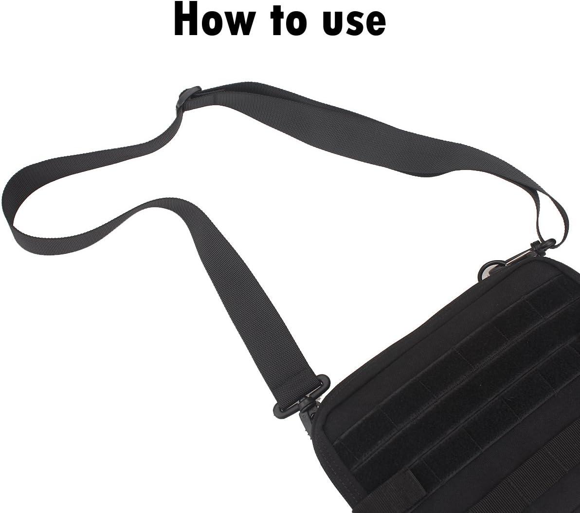 XTACER 1.5 Shoulder Clips Strap with Shoulder Pad Backpack Accessory Strap Luggage Straps Long Bag Strap