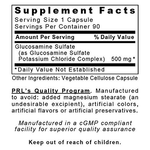 Premier Research Labs Glucosamine, 360 VCaps, Vegan - Shellfish-free, Targeted Joint, Ligament and Connective Tissue Support by Quantum / Premier Research (Image #1)