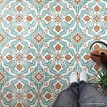 santiago tile stencil for painting floor stencils or wall stencils large stencils modern farmhouse tile floor stencils diy wallpaper tiled wall
